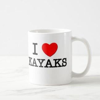 I Love Kayaks Coffee Mugs