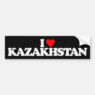 I LOVE KAZAKHSTAN CAR BUMPER STICKER