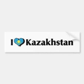 I Love Kazakhstan Flag Bumper Sticker