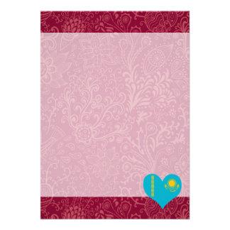 "I Love Kazakhstan 5"" X 7"" Invitation Card"