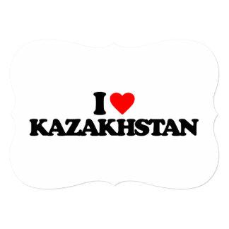 I LOVE KAZAKHSTAN 5X7 PAPER INVITATION CARD