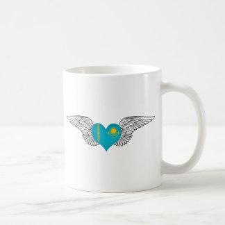I Love Kazakhstan -wings Classic White Coffee Mug