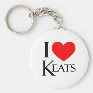 I Love Keats Keychain