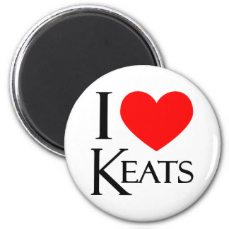 I Love Keats Magnet