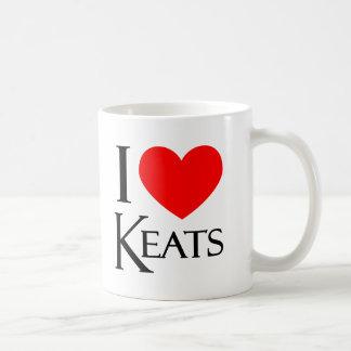 I Love Keats Classic White Coffee Mug