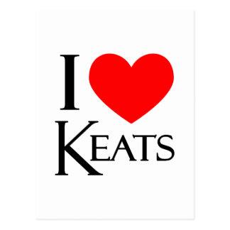 I Love Keats Postcard
