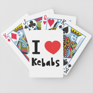 I love Kebabs Bicycle Playing Cards