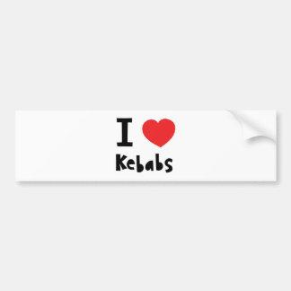 I love Kebabs Bumper Sticker