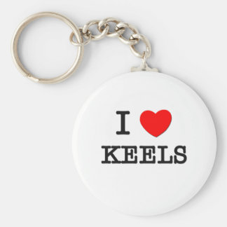 I Love Keels Keychain