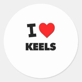 I Love Keels Classic Round Sticker