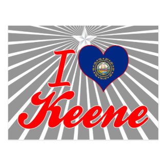 I Love Keene, New Hampshire Postcard