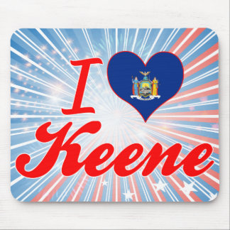 I Love Keene, New York Mouse Pads