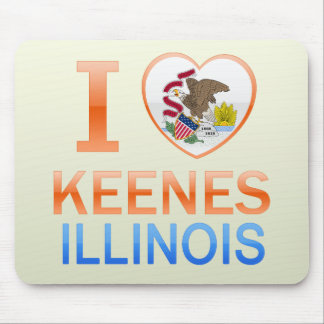 I Love Keenes, IL Mouse Pad