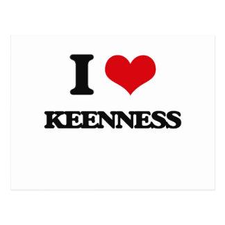 I Love Keenness Postcard