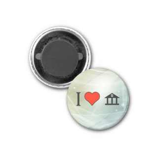 I Love Keeping My Money In A Bank 1 Inch Round Magnet