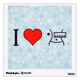 I Love Keeping Myself Fit Wall Sticker