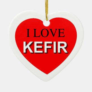 I Love Kefir Ceramic Ornament
