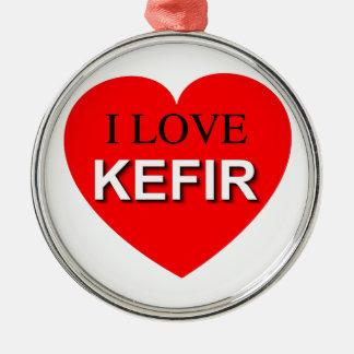 I Love Kefir Metal Ornament