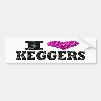 I Love Keggers Bumper Sticker Car Bumper Sticker
