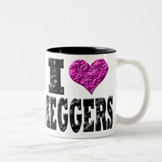 I Love Keggers Two-Tone Coffee Mug