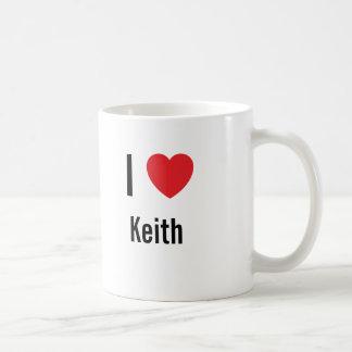I love Keith Classic White Coffee Mug