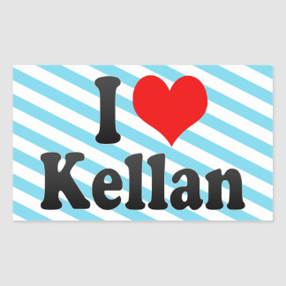 I love Kellan Rectangle Sticker