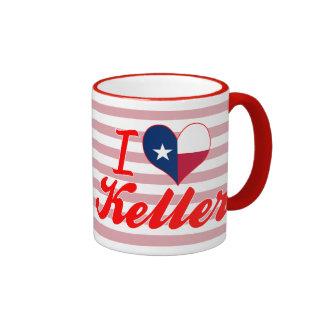 I Love Keller, Texas Ringer Coffee Mug