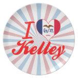 I Love Kelley, Iowa Party Plates