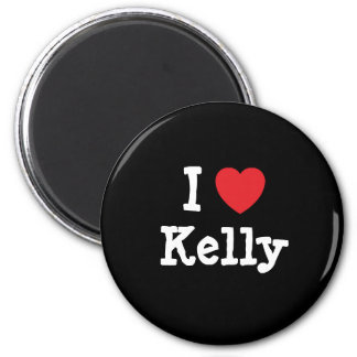 I love Kelly heart custom personalized 2 Inch Round Magnet