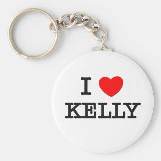 I Love Kelly Keychain
