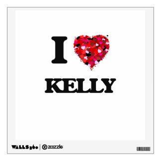 I Love Kelly Wall Decal