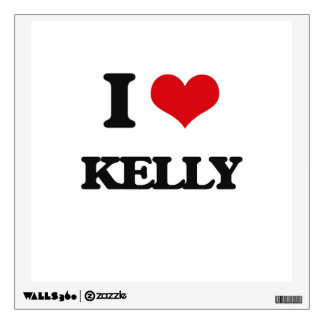 I Love Kelly Wall Sticker