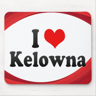 I Love Kelowna, Canada Mouse Pad