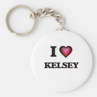 I Love Kelsey Keychain