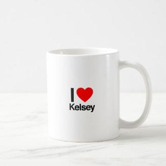 i love kelsey classic white coffee mug