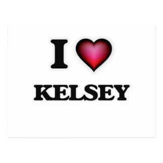 I Love Kelsey Postcard