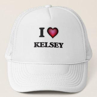 I Love Kelsey Trucker Hat