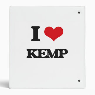 I Love Kemp Vinyl Binder