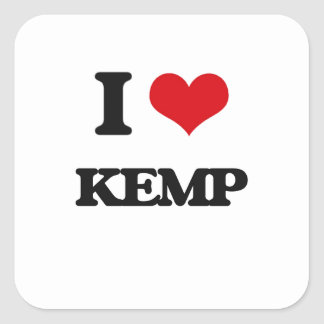 I Love Kemp Square Sticker