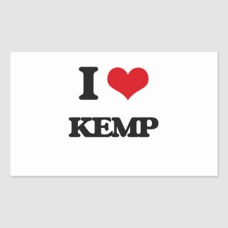 I Love Kemp Rectangular Sticker