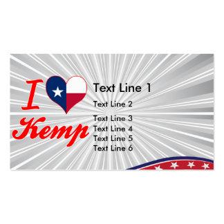 I Love Kemp, Texas Business Card