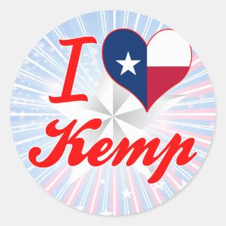 I Love Kemp, Texas Classic Round Sticker
