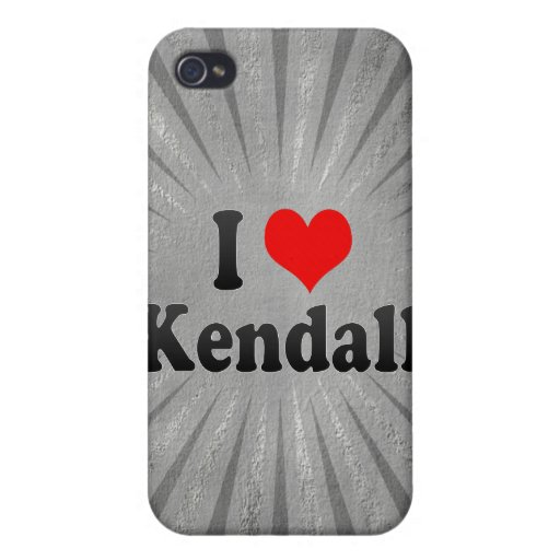 I Love Kendall, United States iPhone 4 Covers