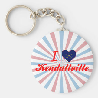 I Love Kendallville, Indiana Keychains