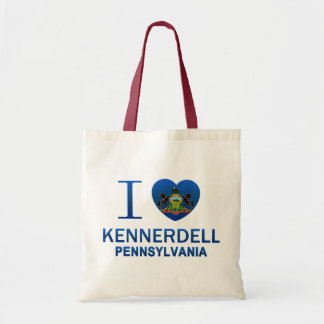 I Love Kennerdell, PA Canvas Bags