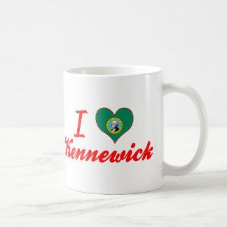 I Love Kennewick, Washington Classic White Coffee Mug