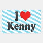 I love Kenny Rectangular Stickers