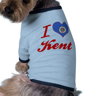 I Love Kent, Minnesota Pet Tshirt