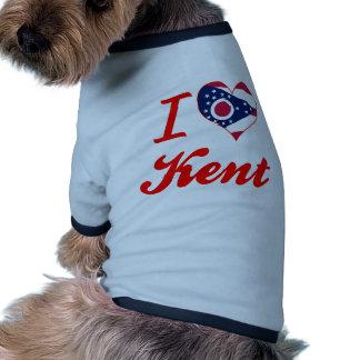 I Love Kent, Ohio Dog T Shirt
