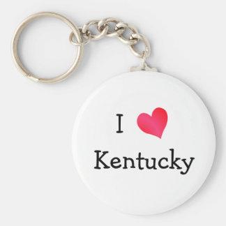I Love Kentucky Basic Round Button Keychain